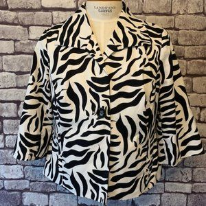 Sandro Black & White Jacket Size 1X